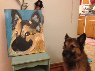 kodi with his painting
