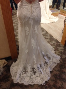 wedding gown from rear