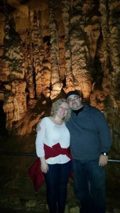 Michael and I at Natural Bridge Caverns...our first adventure together :)