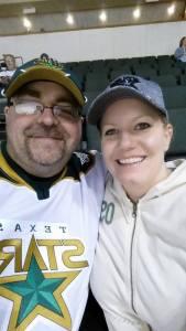 Michael and I at hockey game